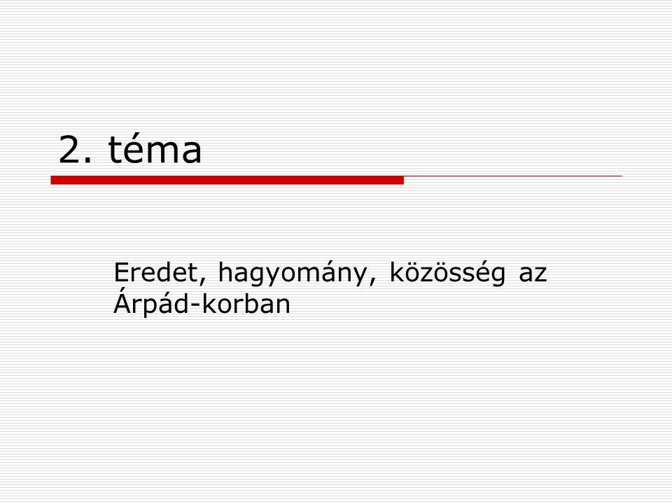 Eredet, hagyomány, közösség az Árpád-korban