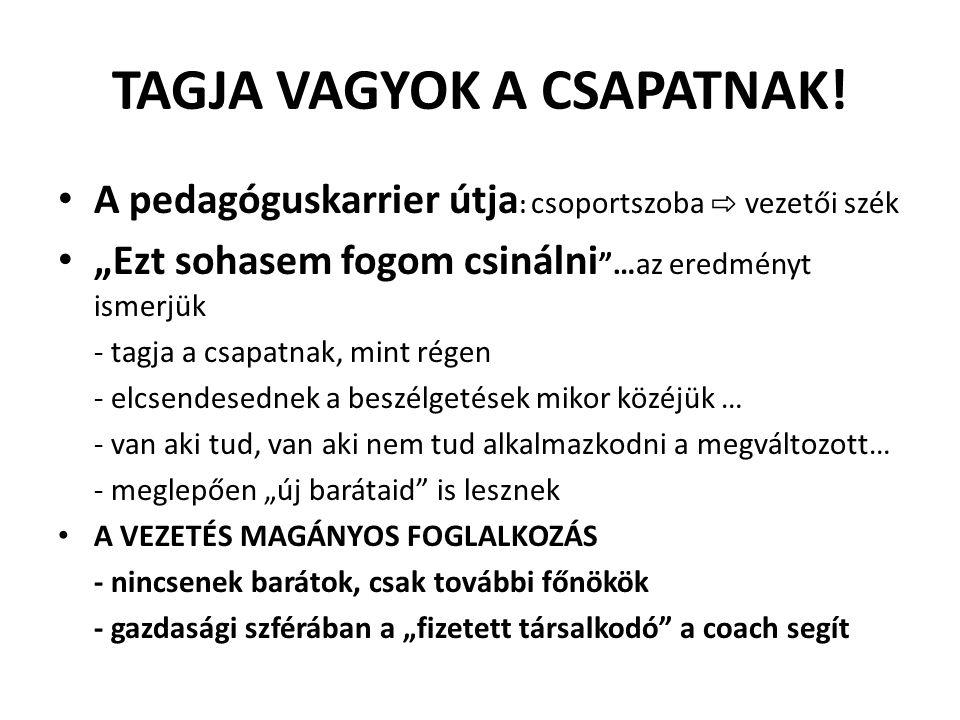 TAGJA VAGYOK A CSAPATNAK!