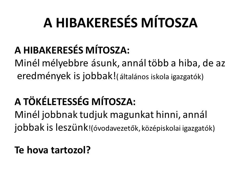 A HIBAKERESÉS MÍTOSZA