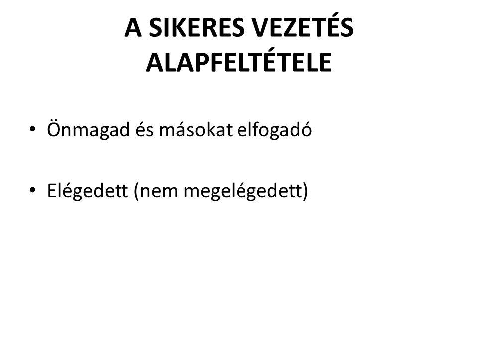 A SIKERES VEZETÉS ALAPFELTÉTELE