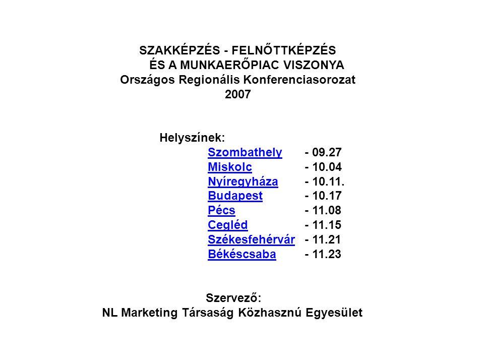 SZAKKÉPZÉS - FELNŐTTKÉPZÉS ÉS A MUNKAERŐPIAC VISZONYA