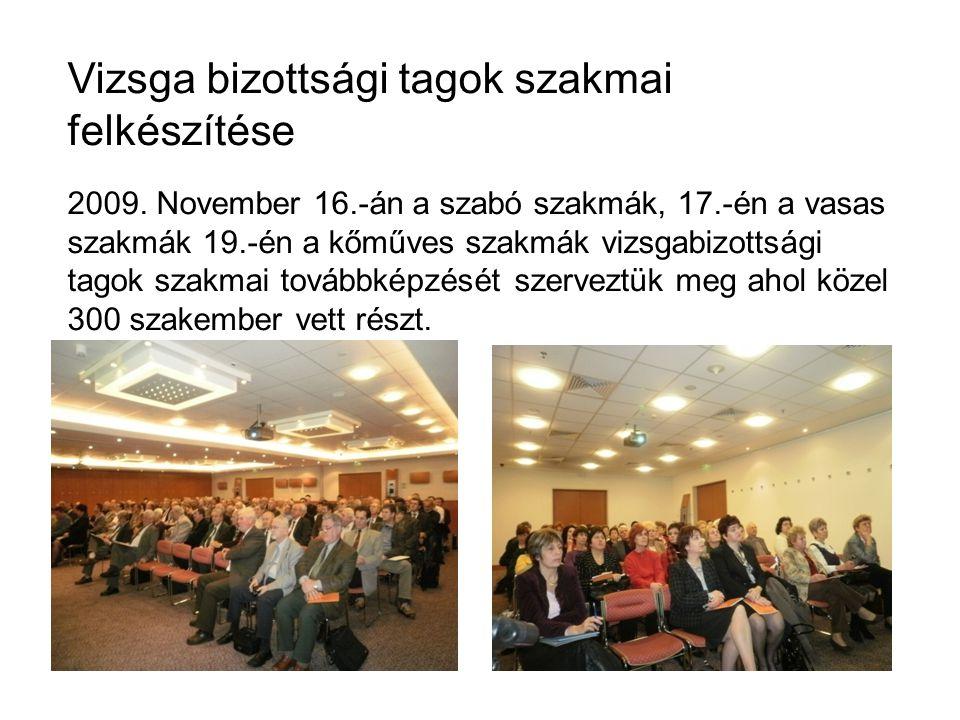 Vizsga bizottsági tagok szakmai felkészítése