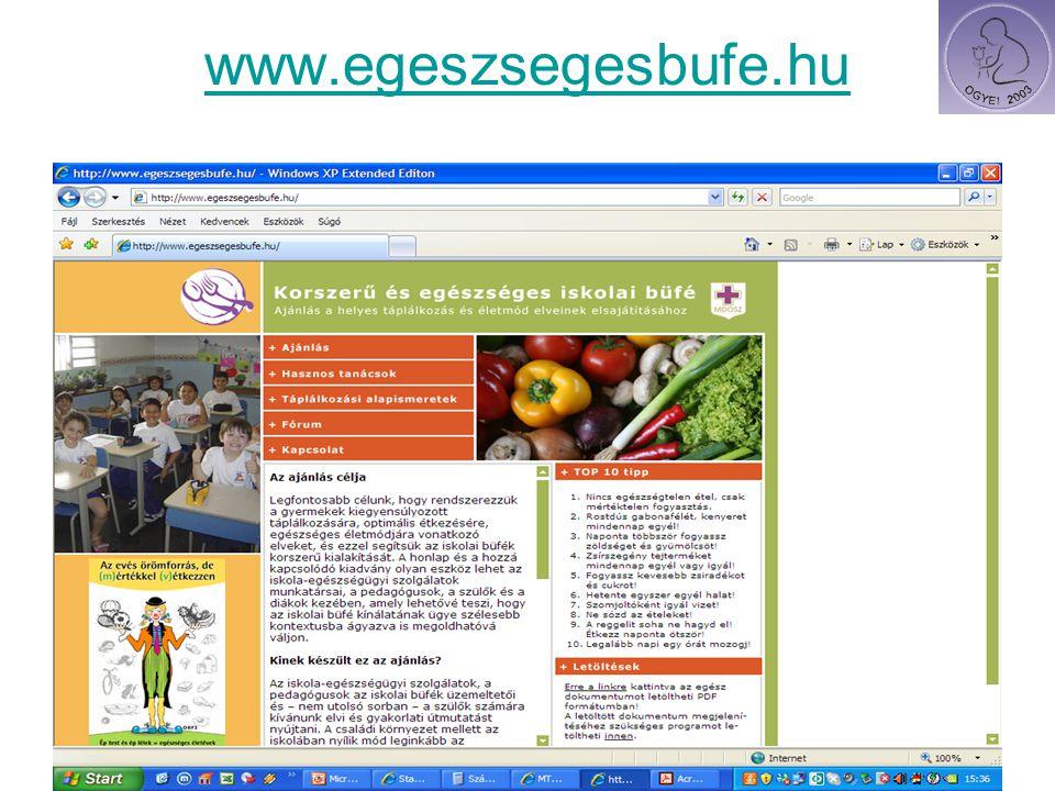 www.egeszsegesbufe.hu