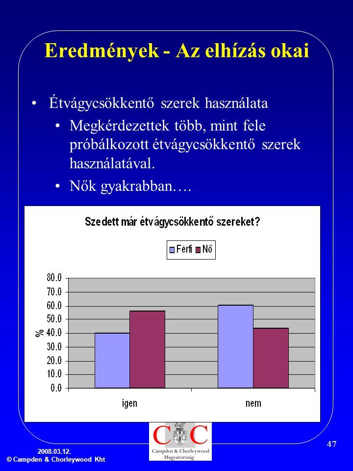 Eredmények - Az elhízás okai