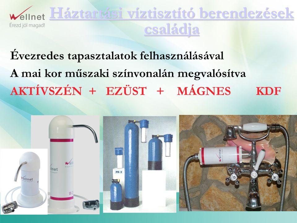 Háztartási víztisztító berendezések családja