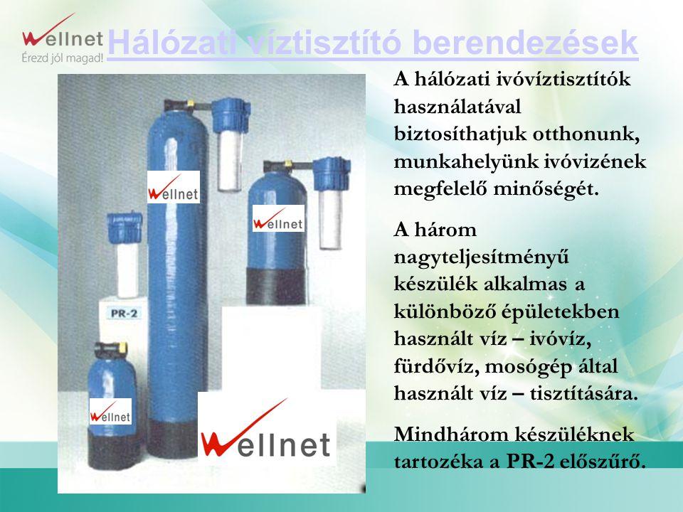 Hálózati víztisztító berendezések