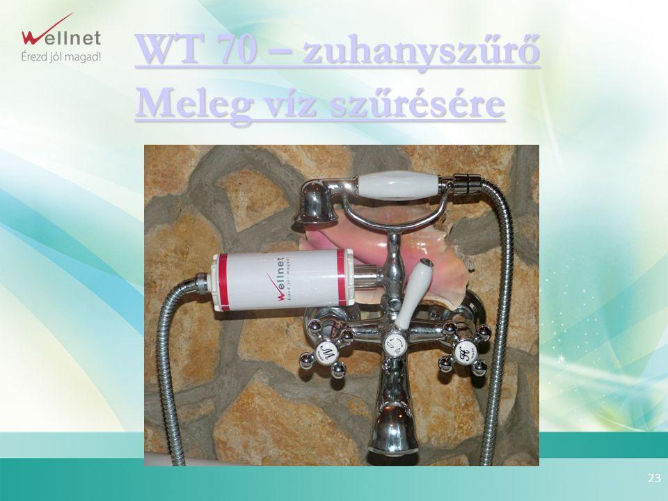 WT 70 – zuhanyszűrő Meleg víz szűrésére