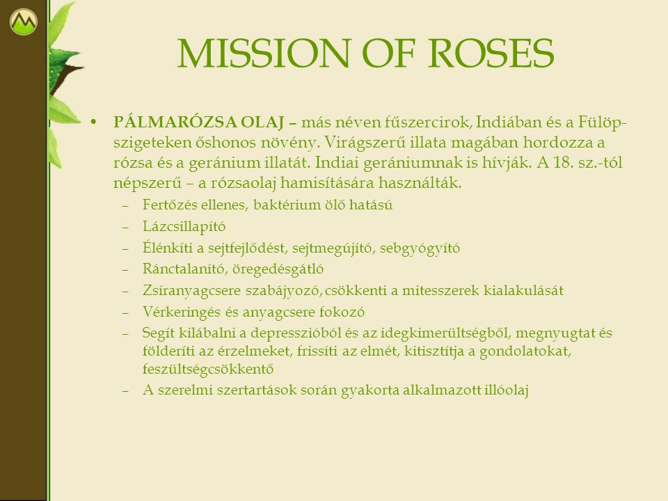 MISSION OF ROSES