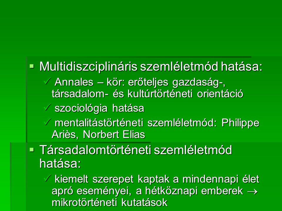 Multidiszciplináris szemléletmód hatása: