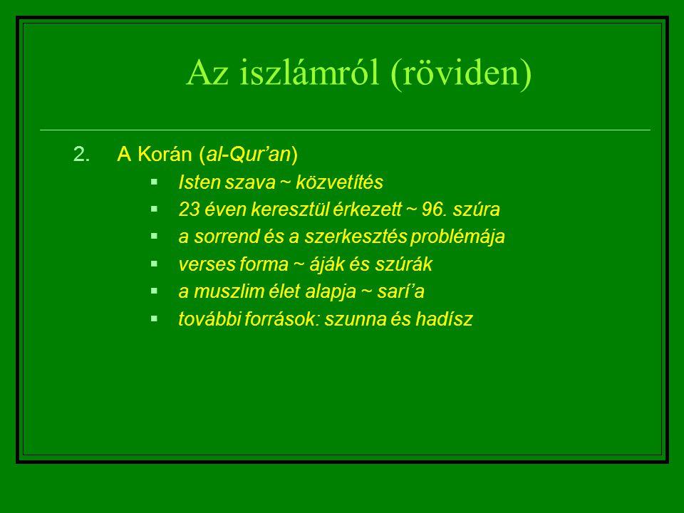 Az iszlámról (röviden)