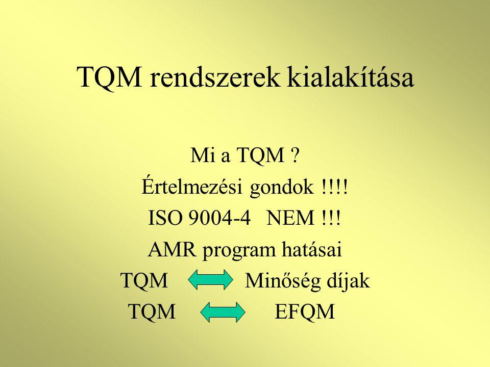 TQM rendszerek kialakítása