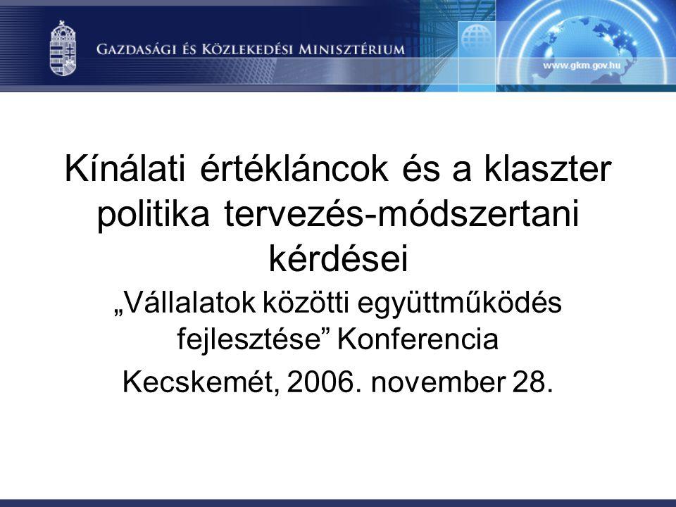 """""""Vállalatok közötti együttműködés fejlesztése Konferencia"""