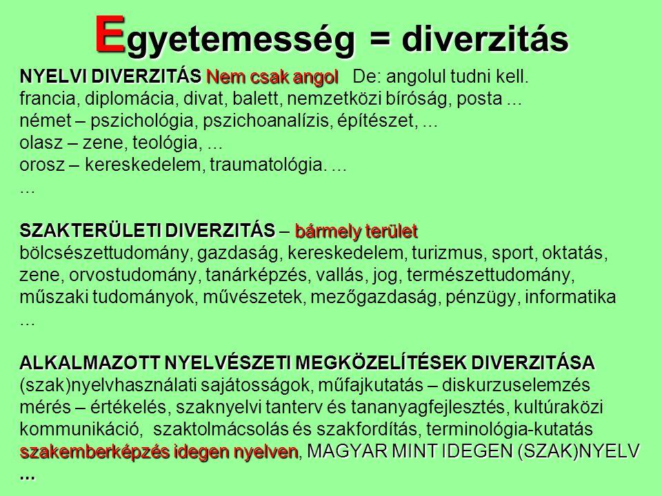 Egyetemesség = diverzitás