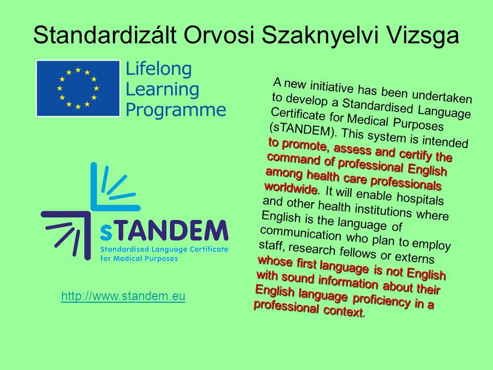 Standardizált Orvosi Szaknyelvi Vizsga