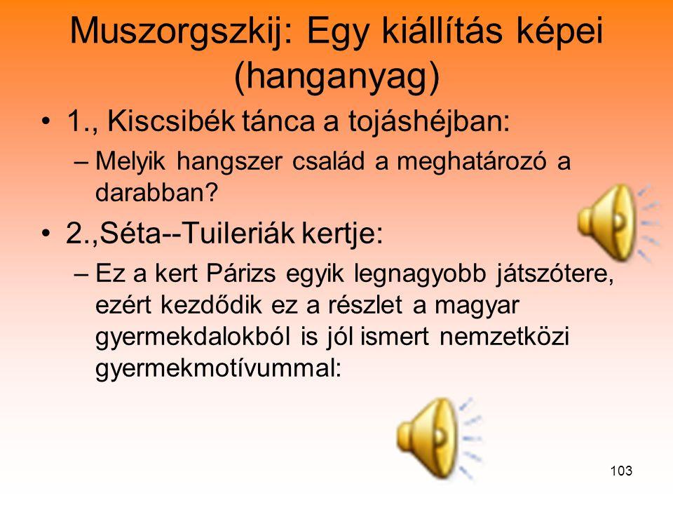 Muszorgszkij: Egy kiállítás képei (hanganyag)