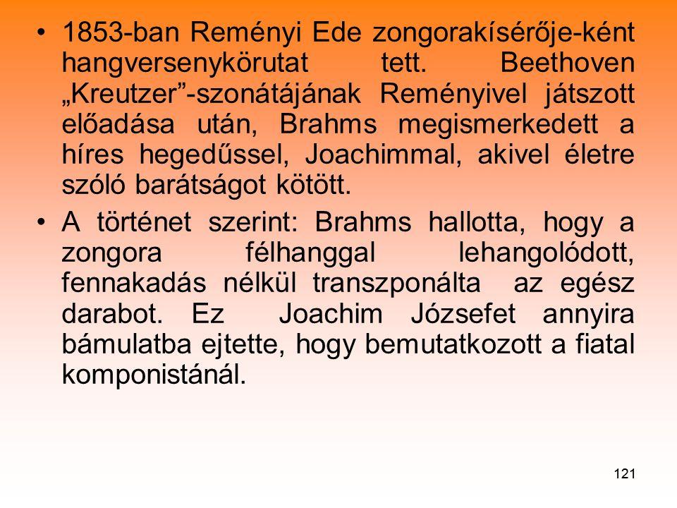 1853-ban Reményi Ede zongorakísérője-ként hangversenykörutat tett