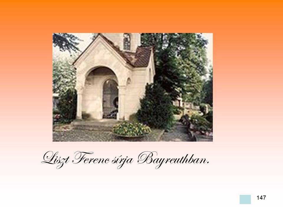 Liszt Ferenc sírja Bayreuthban.