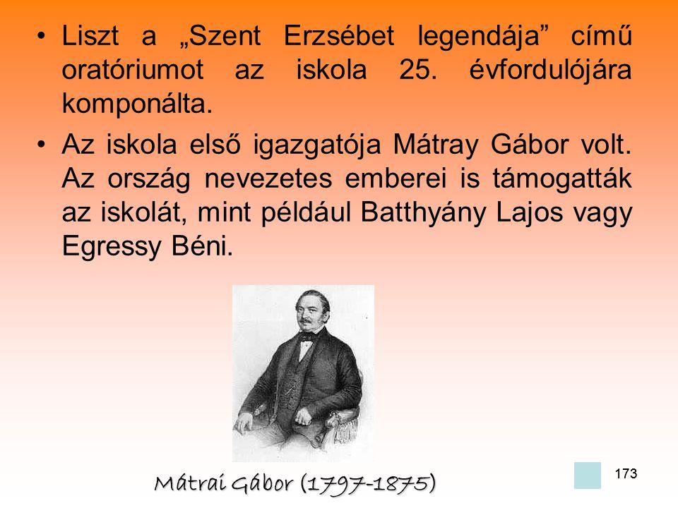 """Liszt a """"Szent Erzsébet legendája című oratóriumot az iskola 25"""