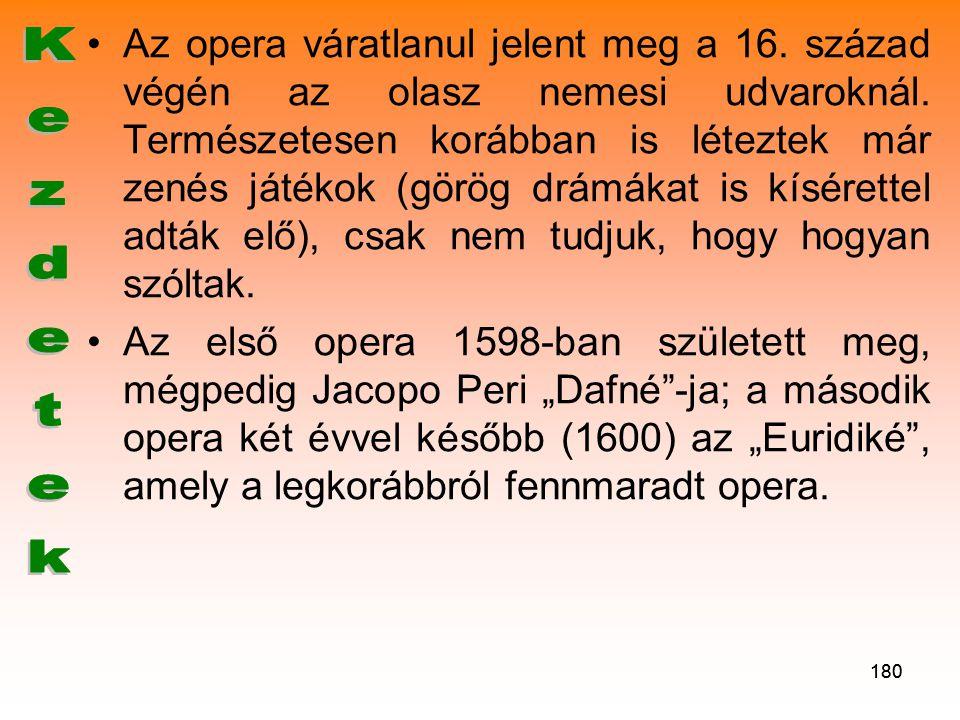 Az opera váratlanul jelent meg a 16