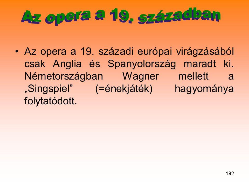 Az opera a 19. században