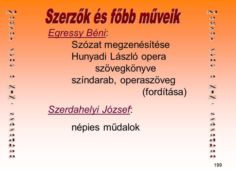 Magyar zene a XIX. században Magyar zene a XIX. században
