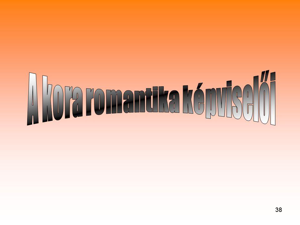 A kora romantika képviselői
