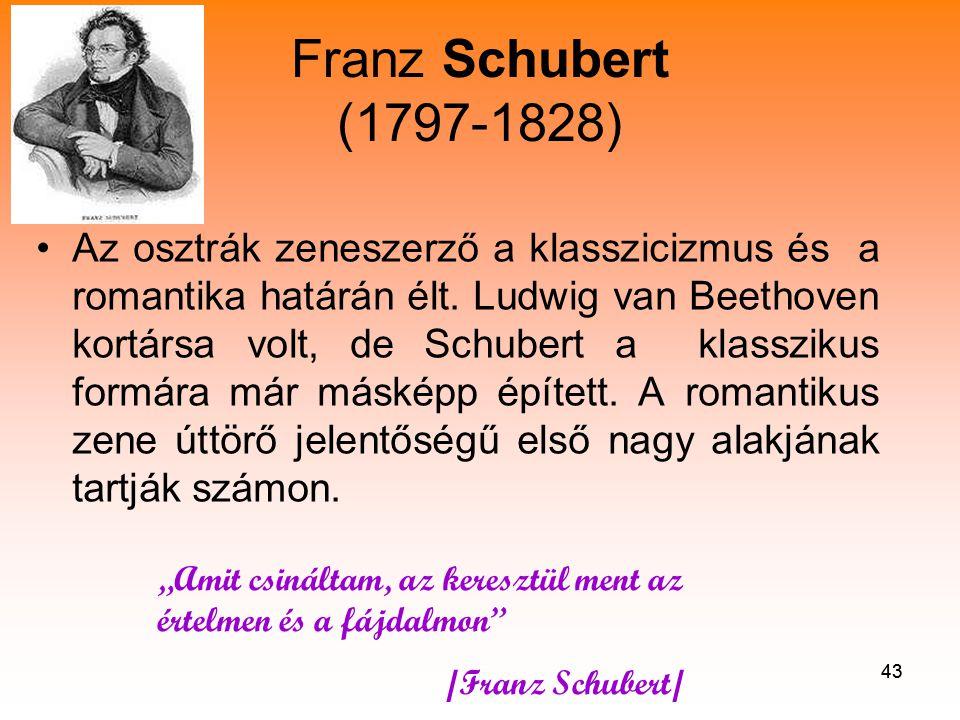 Franz Schubert (1797-1828)