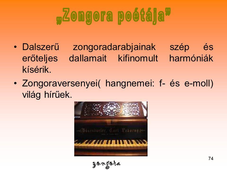 """""""Zongora poétája Dalszerű zongoradarabjainak szép és erőteljes dallamait kifinomult harmóniák kísérik."""