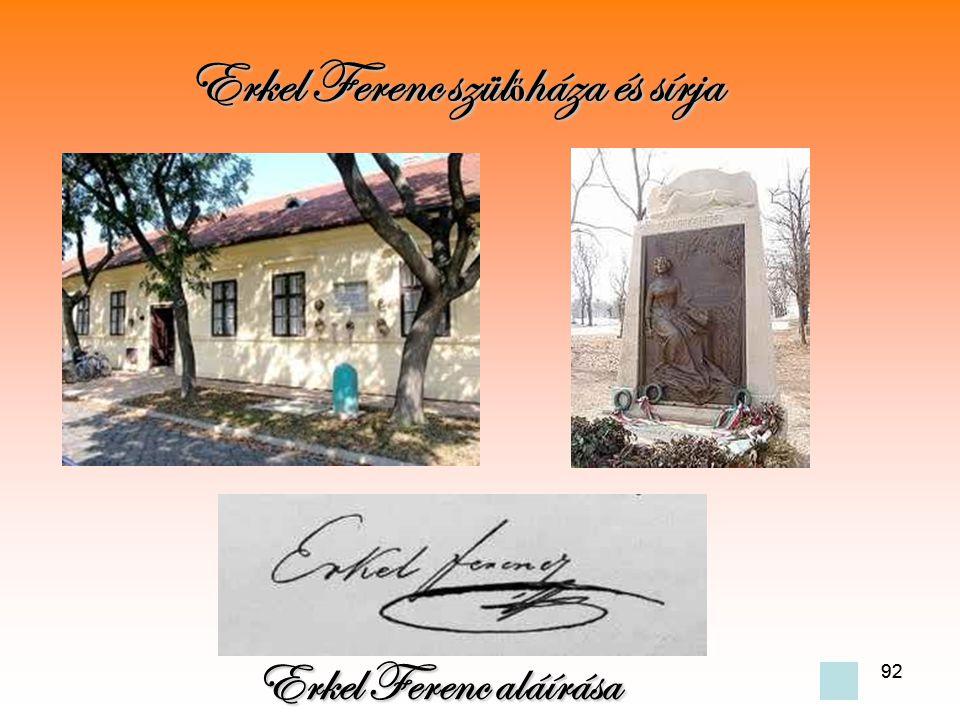 Erkel Ferenc szülőháza és sírja