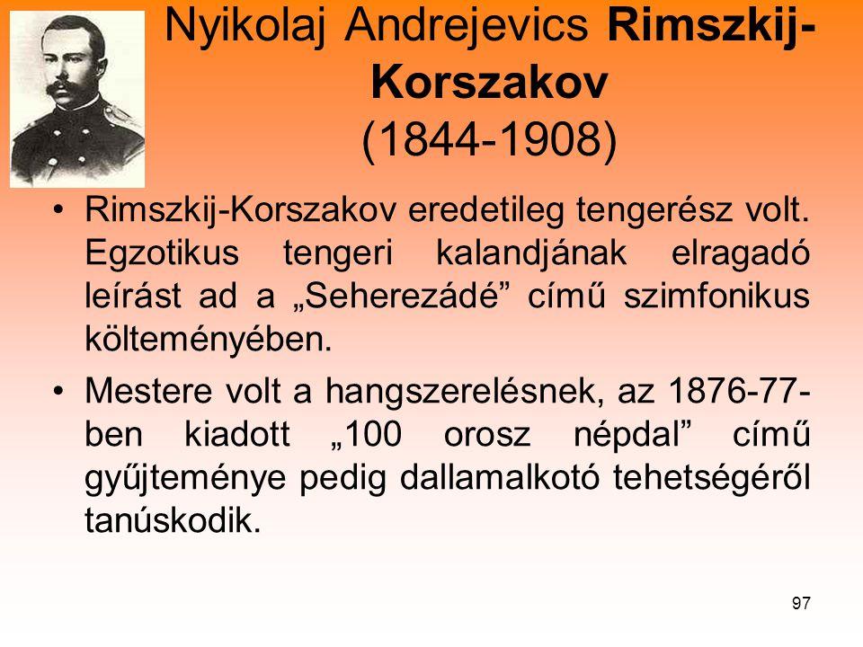 Nyikolaj Andrejevics Rimszkij-Korszakov (1844-1908)