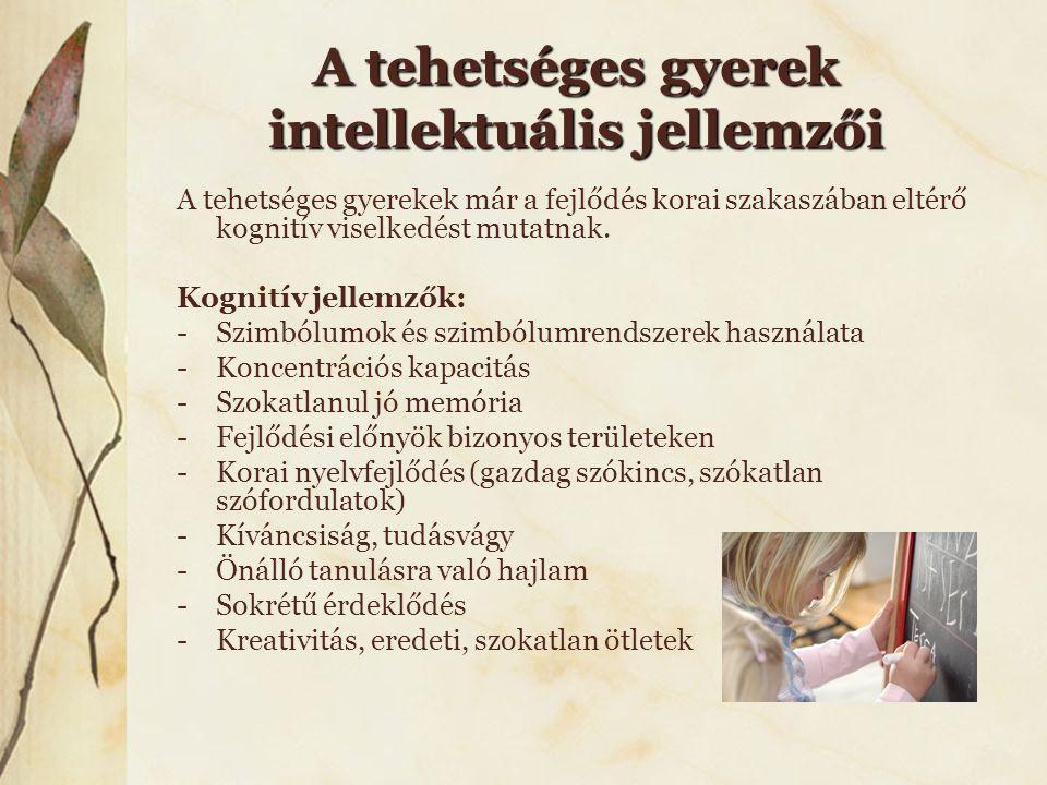 A tehetséges gyerek intellektuális jellemzői