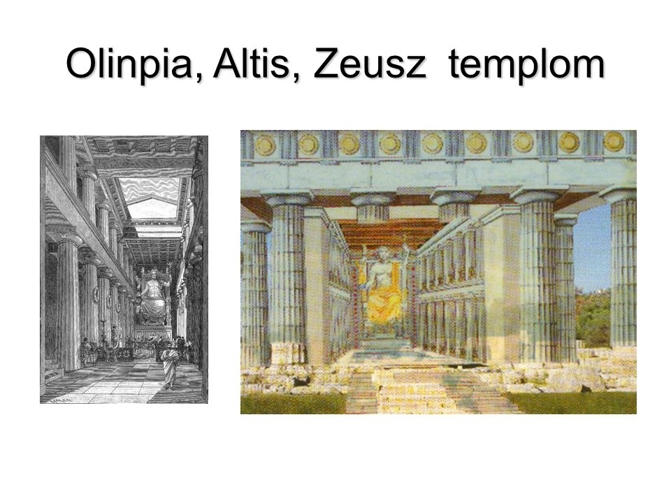 Olinpia, Altis, Zeusz templom