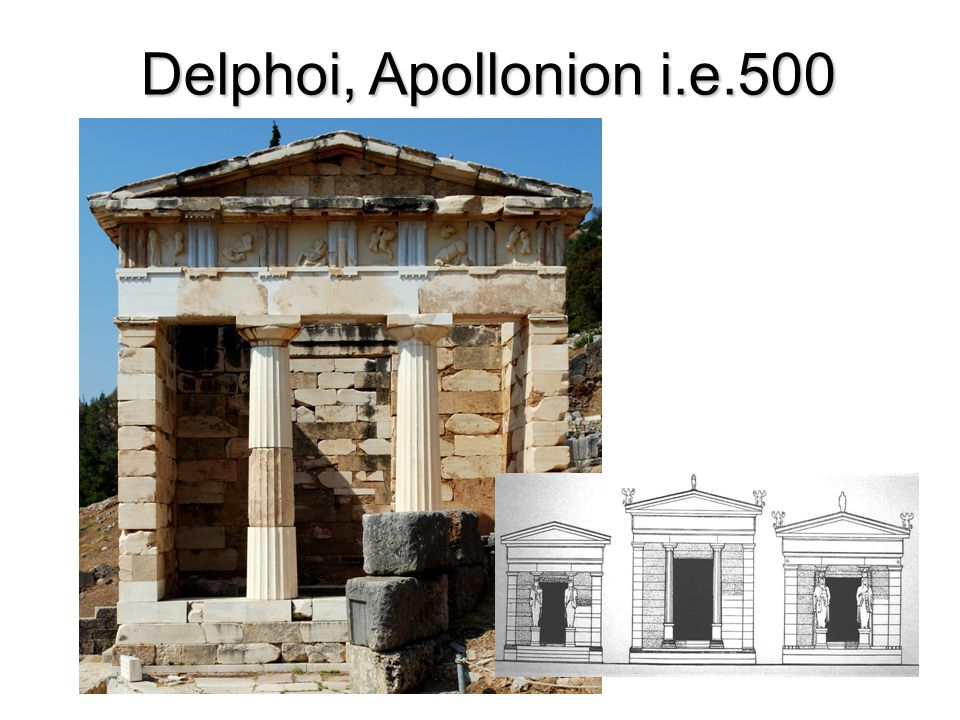 Delphoi, Apollonion i.e.500