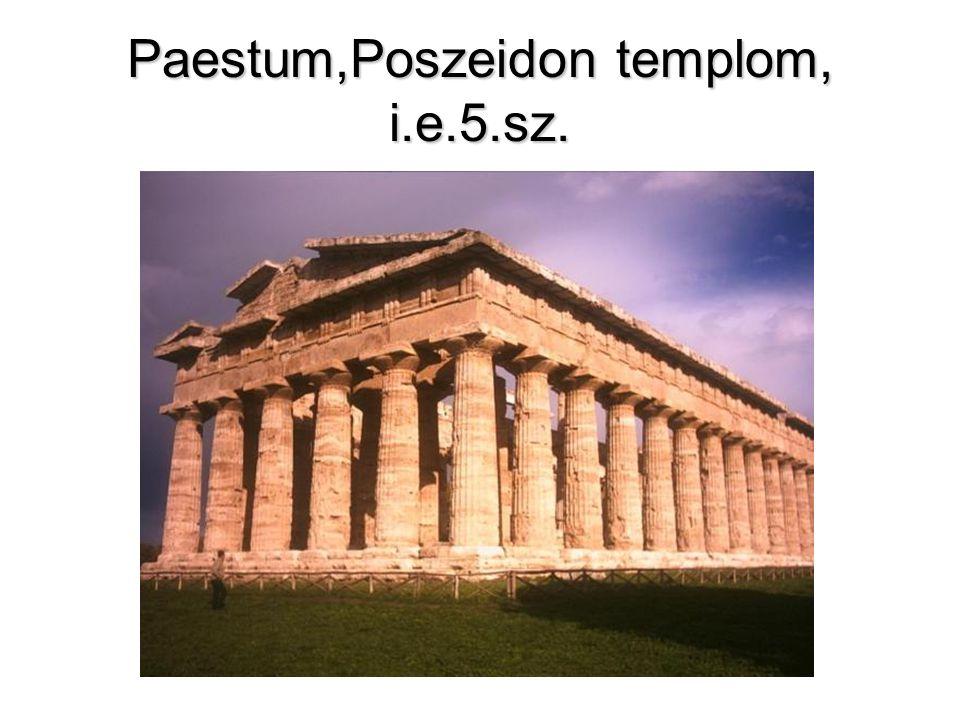Paestum,Poszeidon templom, i.e.5.sz.