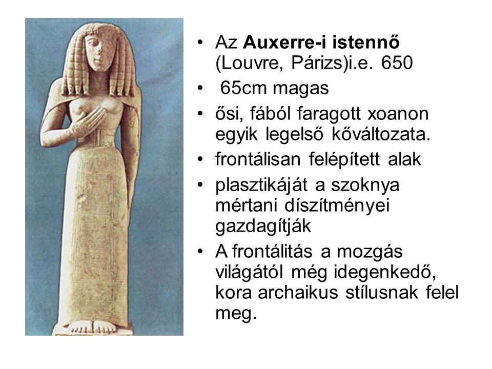 Az Auxerre-i istennő (Louvre, Párizs)i.e. 650