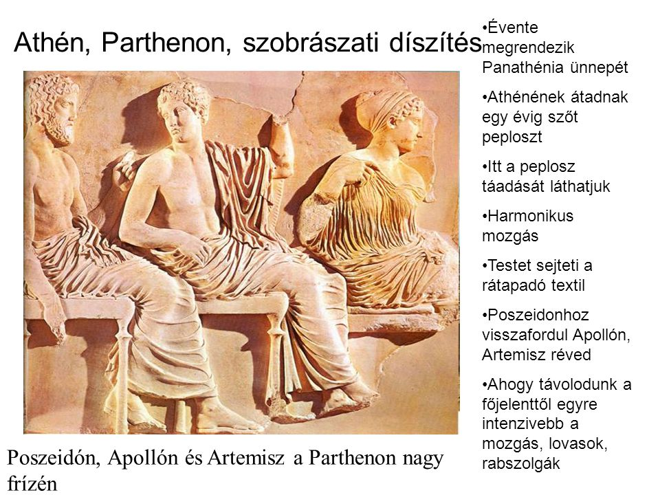 Athén, Parthenon, szobrászati díszítés