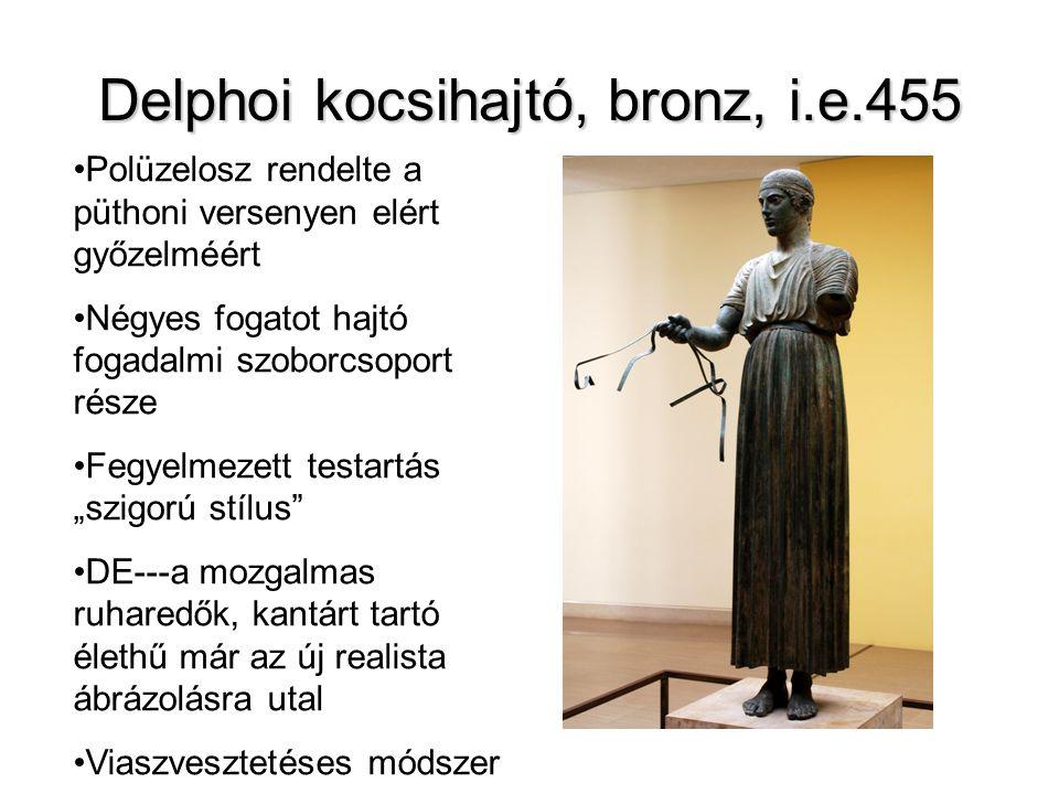 Delphoi kocsihajtó, bronz, i.e.455