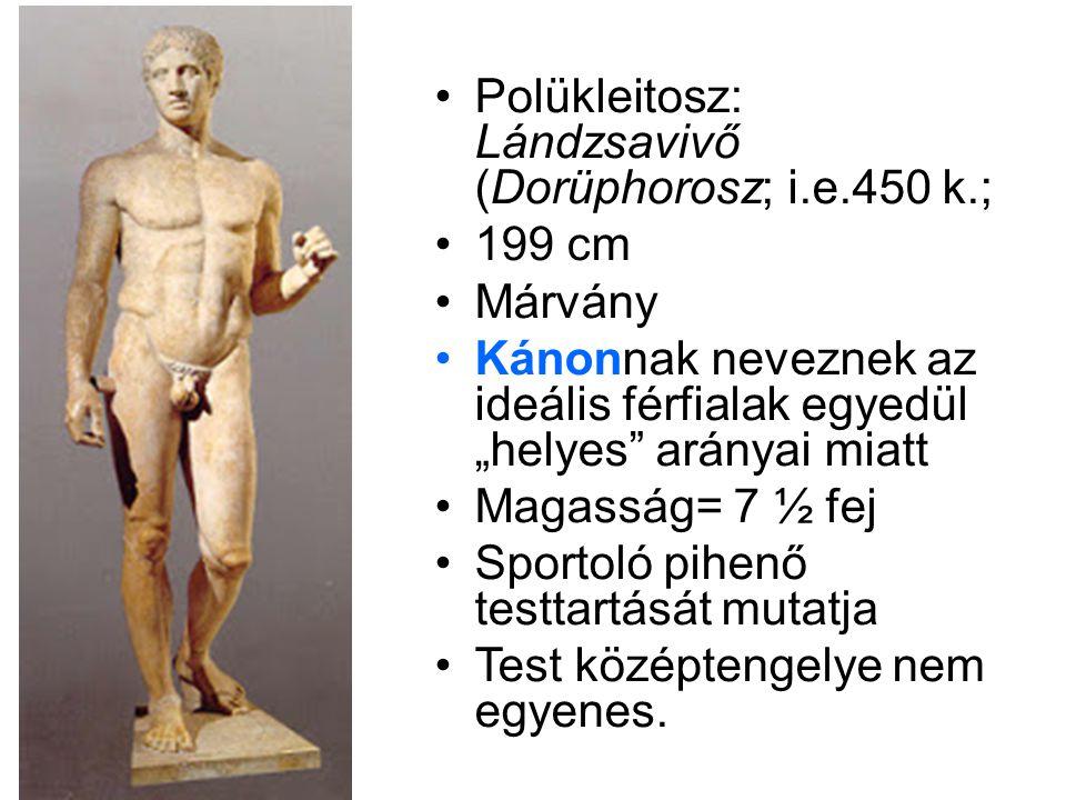Polükleitosz: Lándzsavivő (Dorüphorosz; i.e.450 k.;