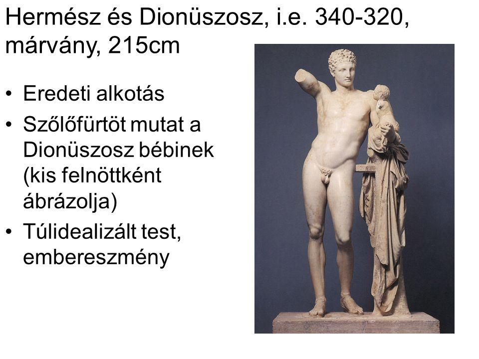 Hermész és Dionüszosz, i.e. 340-320, márvány, 215cm