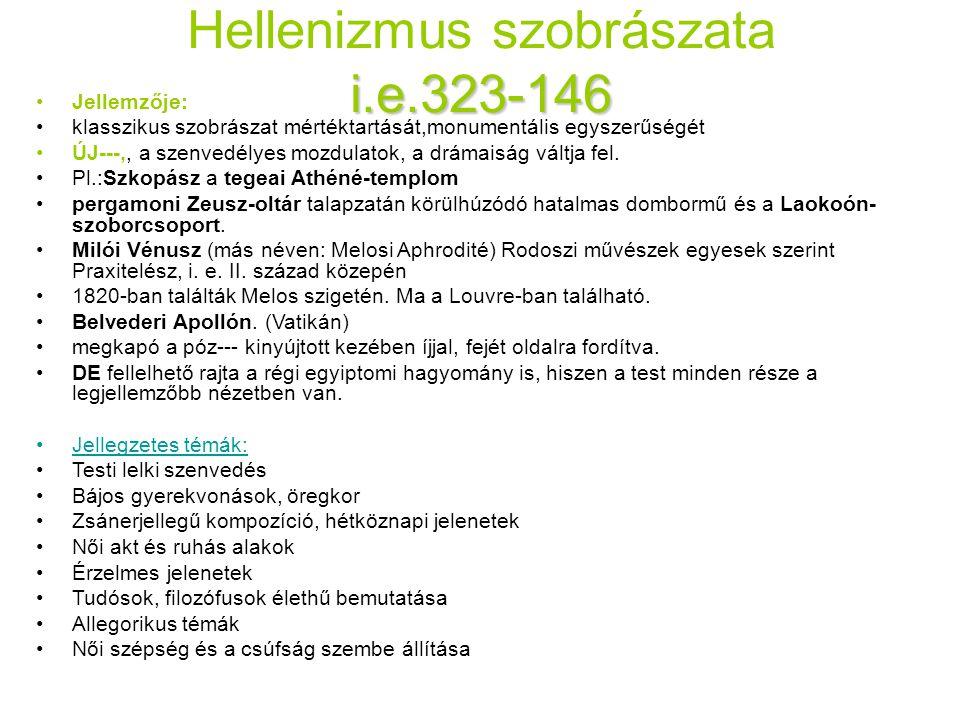 Hellenizmus szobrászata i.e.323-146