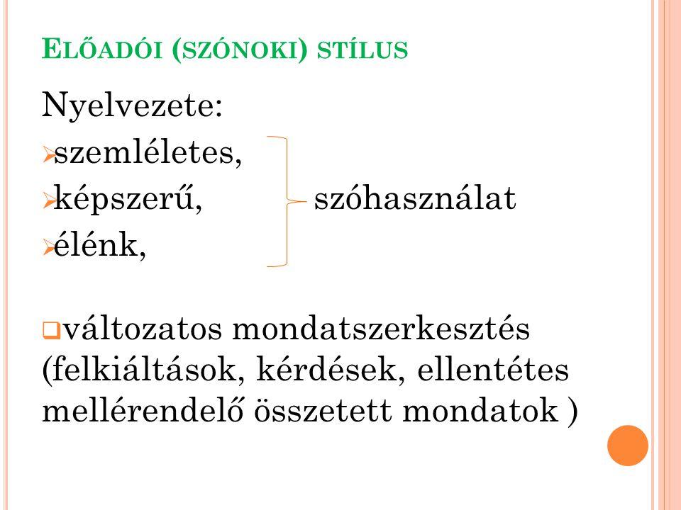 Előadói (szónoki) stílus