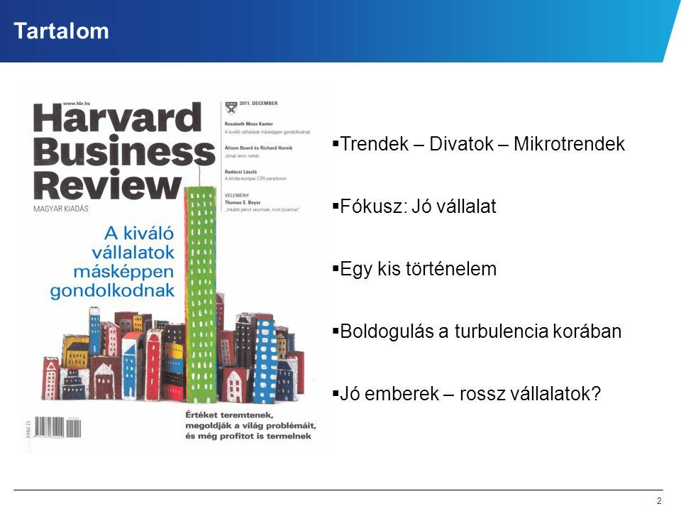 Tartalom Trendek – Divatok – Mikrotrendek Fókusz: Jó vállalat