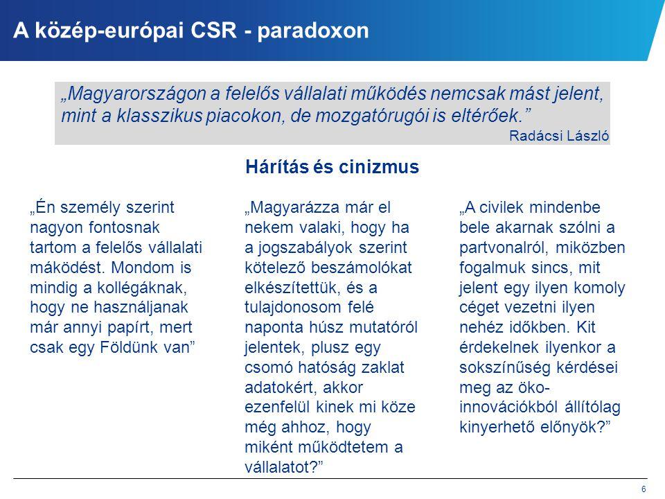 A közép-európai CSR - paradoxon