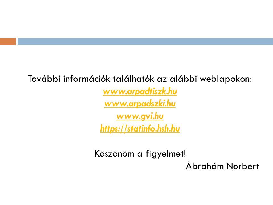 További információk találhatók az alábbi weblapokon: