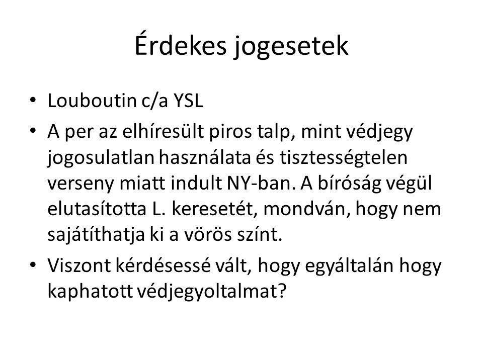Érdekes jogesetek Louboutin c/a YSL