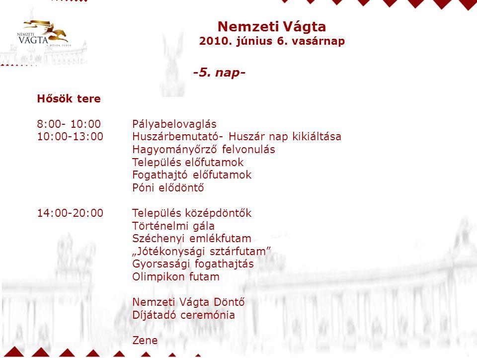 Nemzeti Vágta -5. nap- 2010. június 6. vasárnap Hősök tere