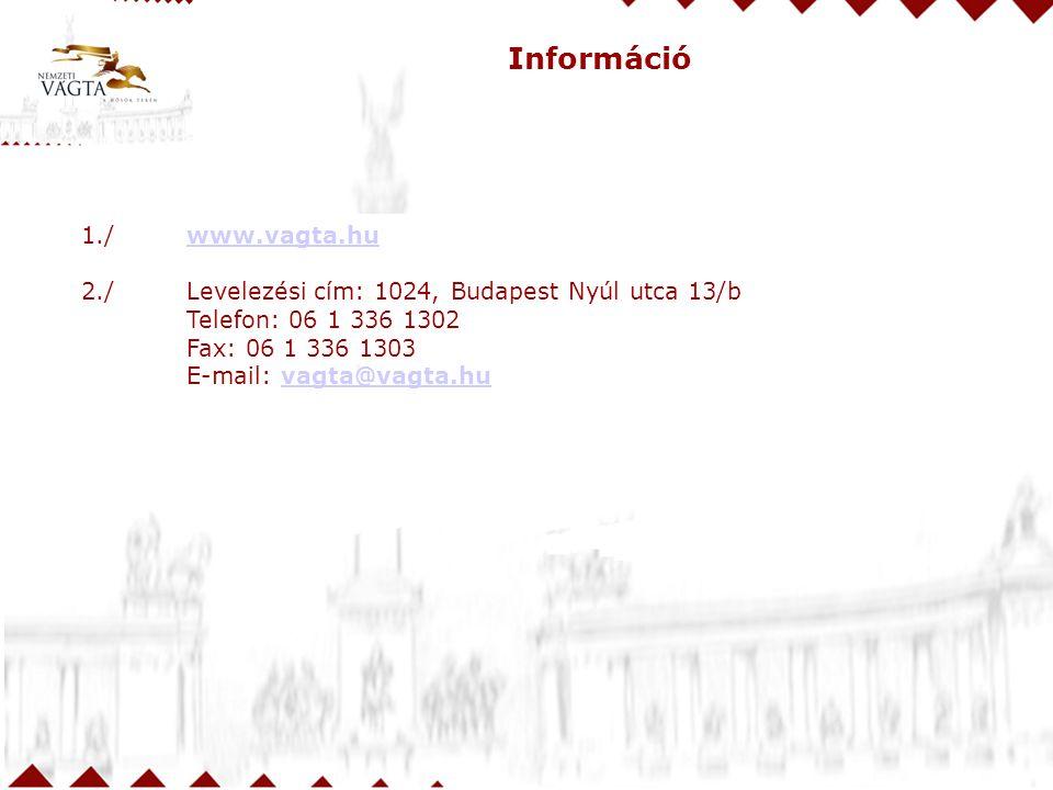 Információ 1./ www.vagta.hu