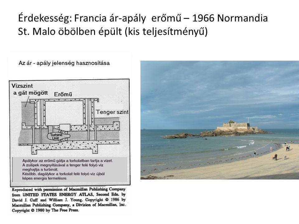 Érdekesség: Francia ár-apály erőmű – 1966 Normandia St