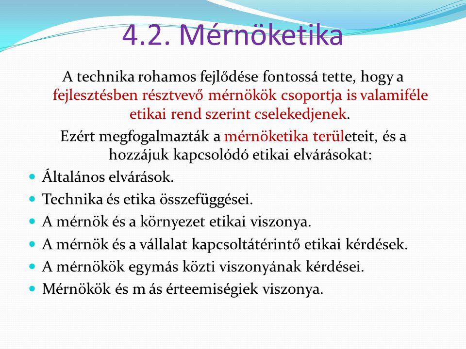 4.2. Mérnöketika