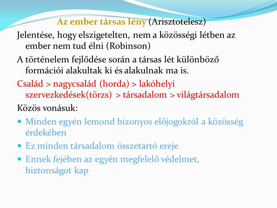 Az ember társas lény (Arisztotelesz)